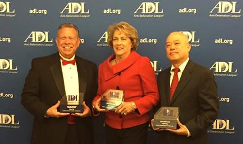 Mike Cole, Ellen Cohen and Cecil Fong - ADL Honorees